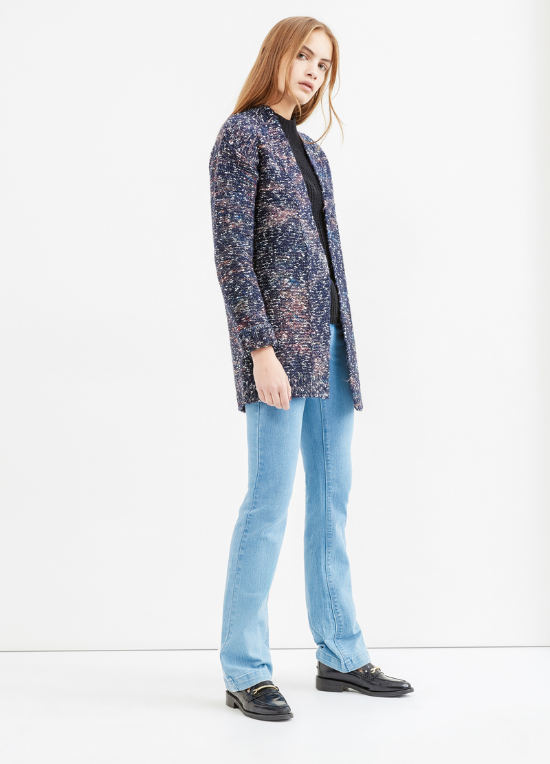 Wool and cotton blend cardigan image number null