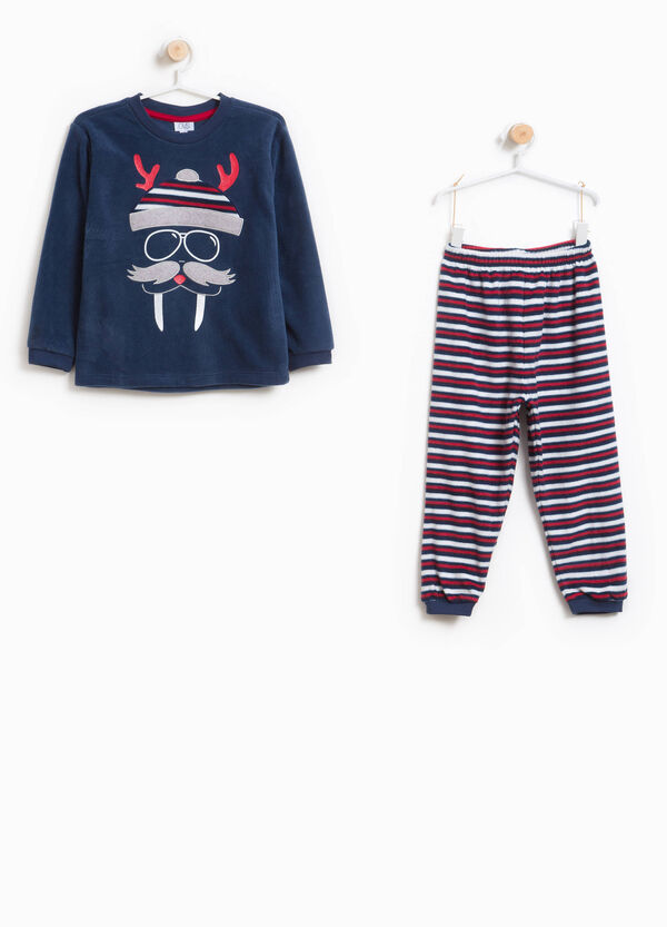 Striped pyjamas with patch and print | OVS
