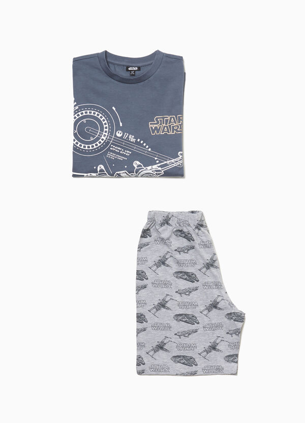 Pyjamas with Star Wars print and pattern