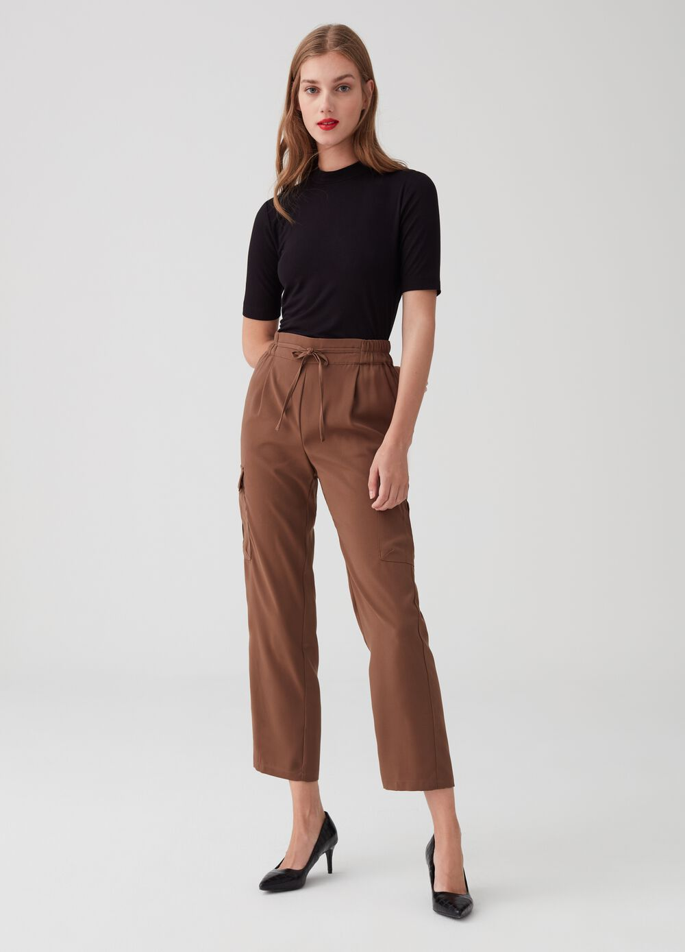 Fluid crop cargo trousers