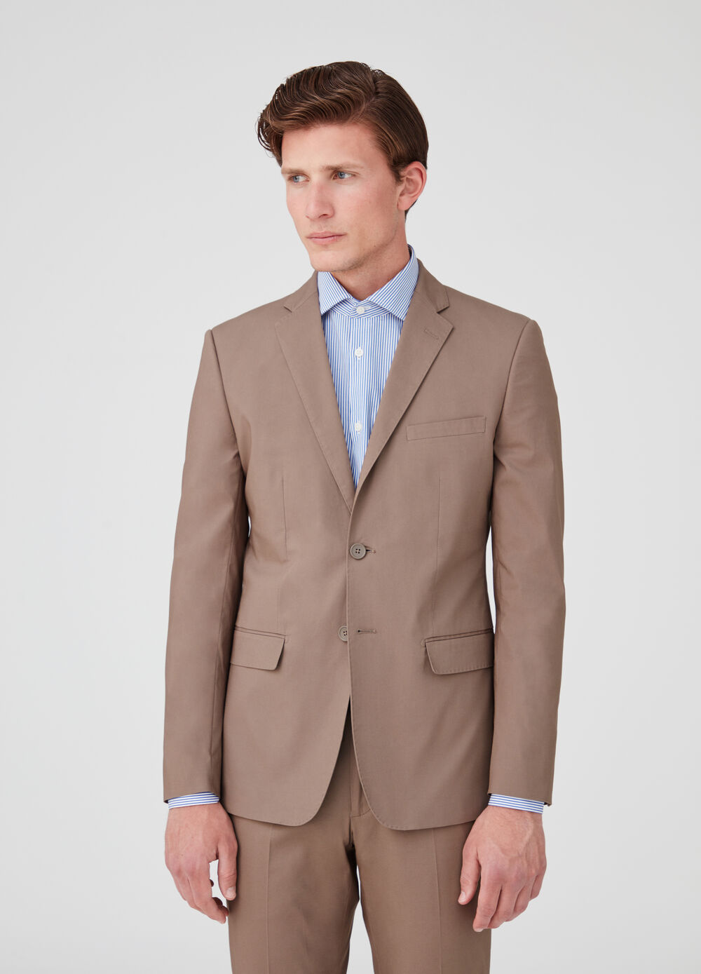 Two-button regular-fit stretch jacket