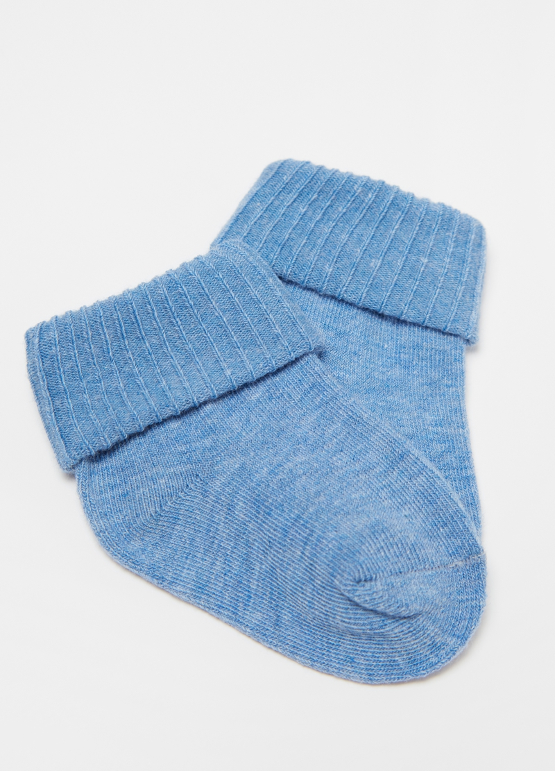Three-pair pack short stretch socks with fold image number null