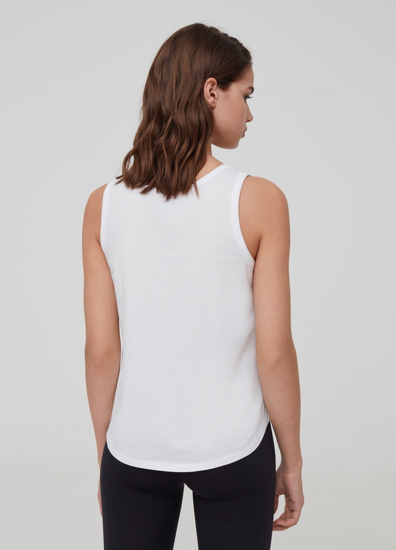 Tank-top in puro cotone con stampa image number null