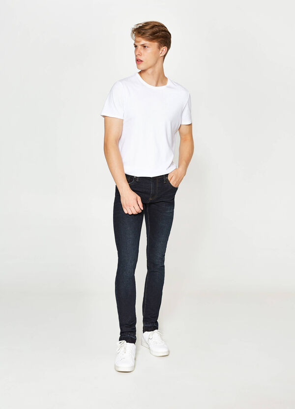 Solid colour skinny fit stretch jeans   OVS