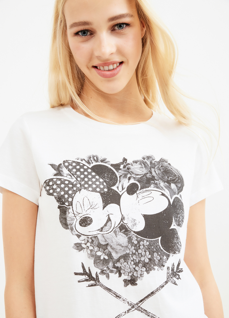 T-shirt stampa Minnie e Mickey Mouse image number null