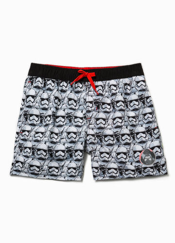 Swim boxer shorts with Star Wars pattern