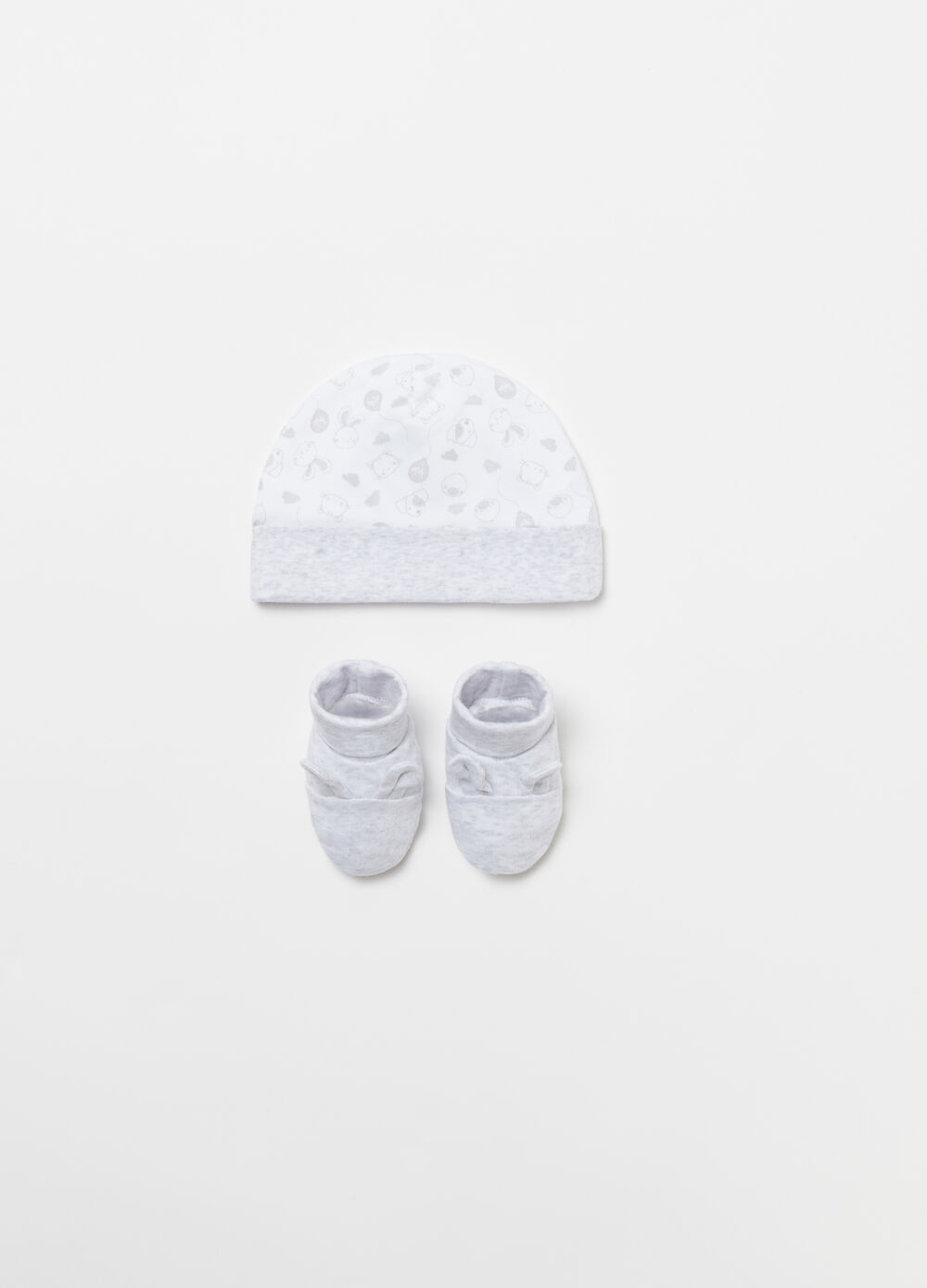 BCI baby shoes and hat in cotton