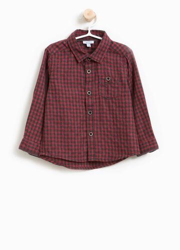 Check cotton shirt with pocket