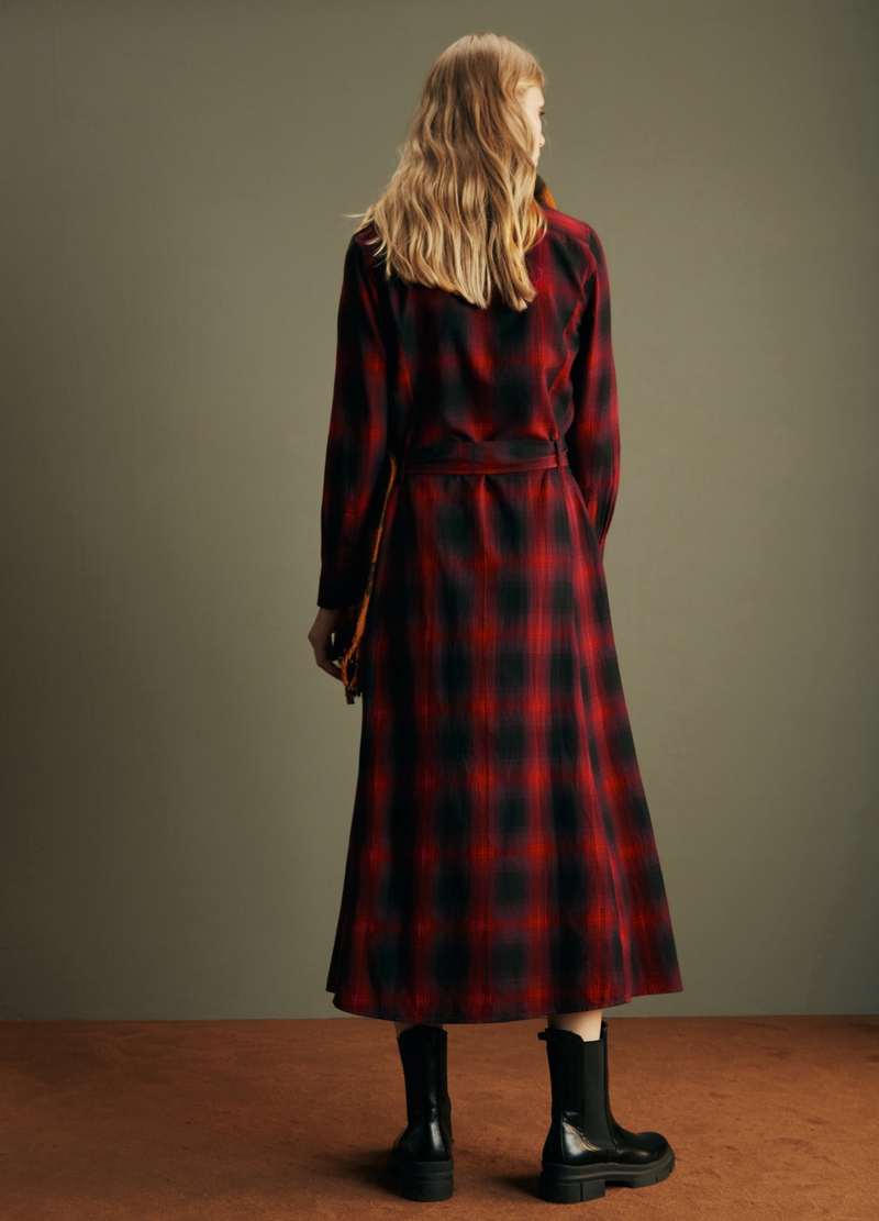 PIOMBO long shirt dress with check pattern image number null