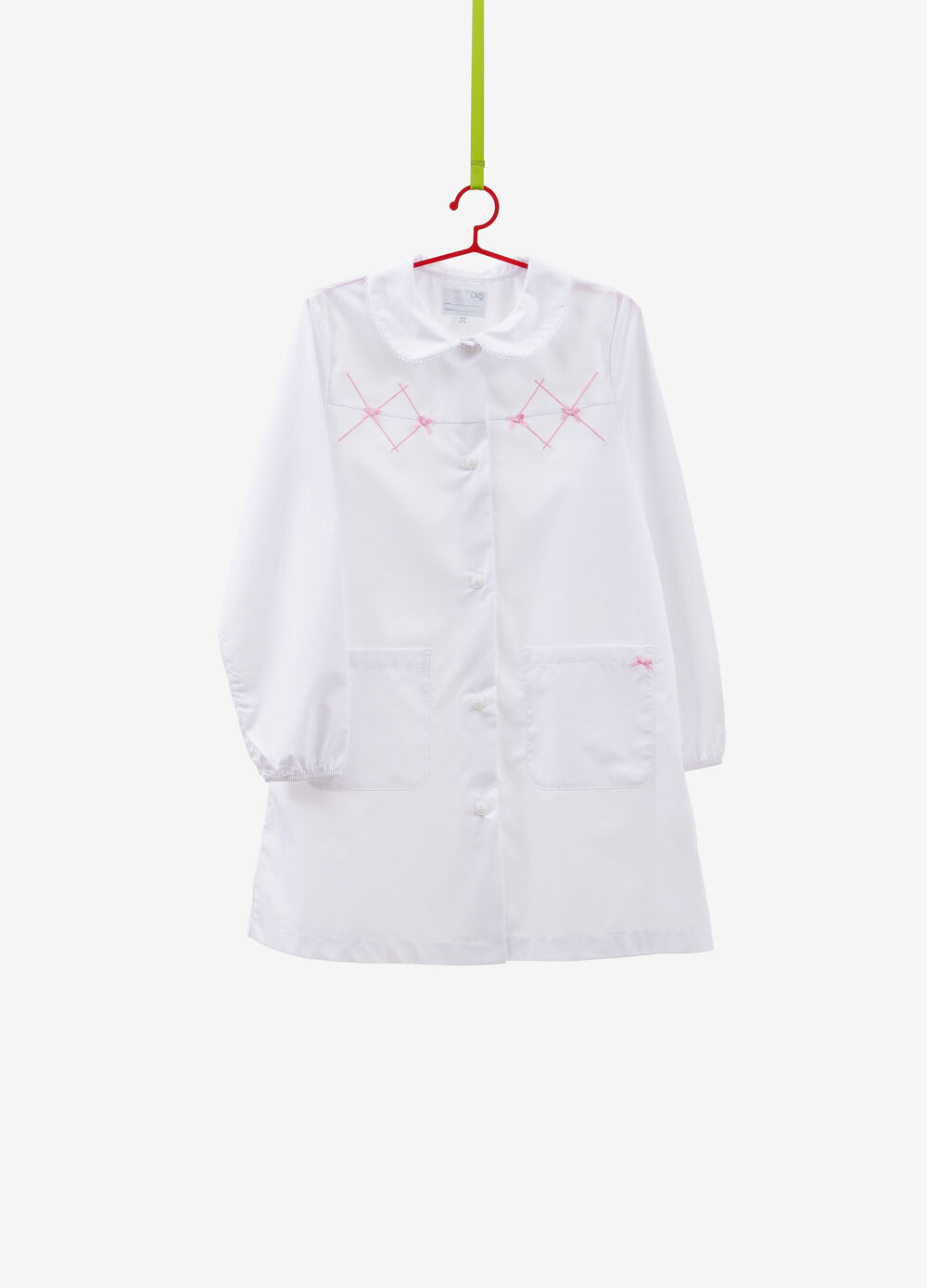Cotton blend smock with embroidery
