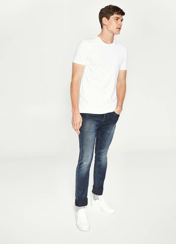 Jeans skinny fit stretch scoloriture