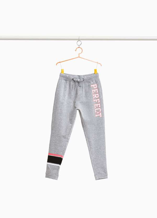 Stretch joggers with print