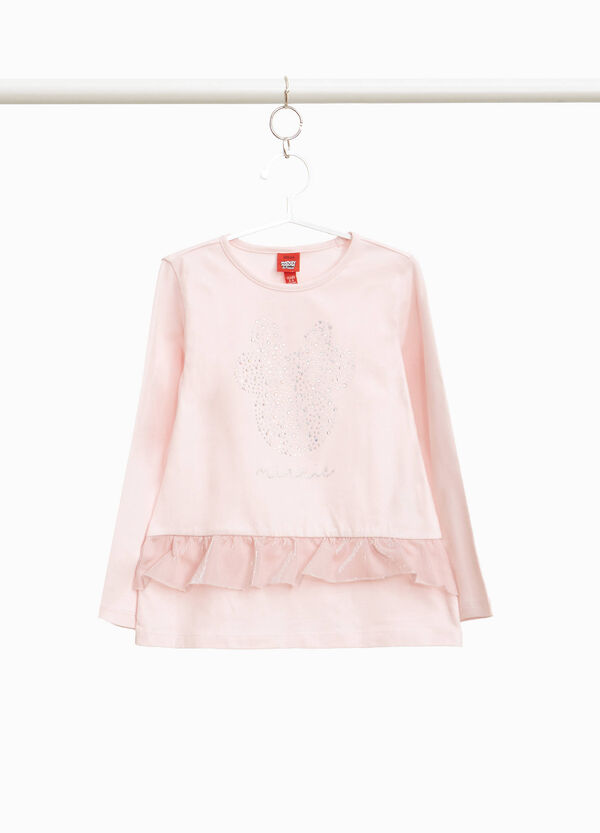Minnie Mouse T-shirt with flounce and diamantés