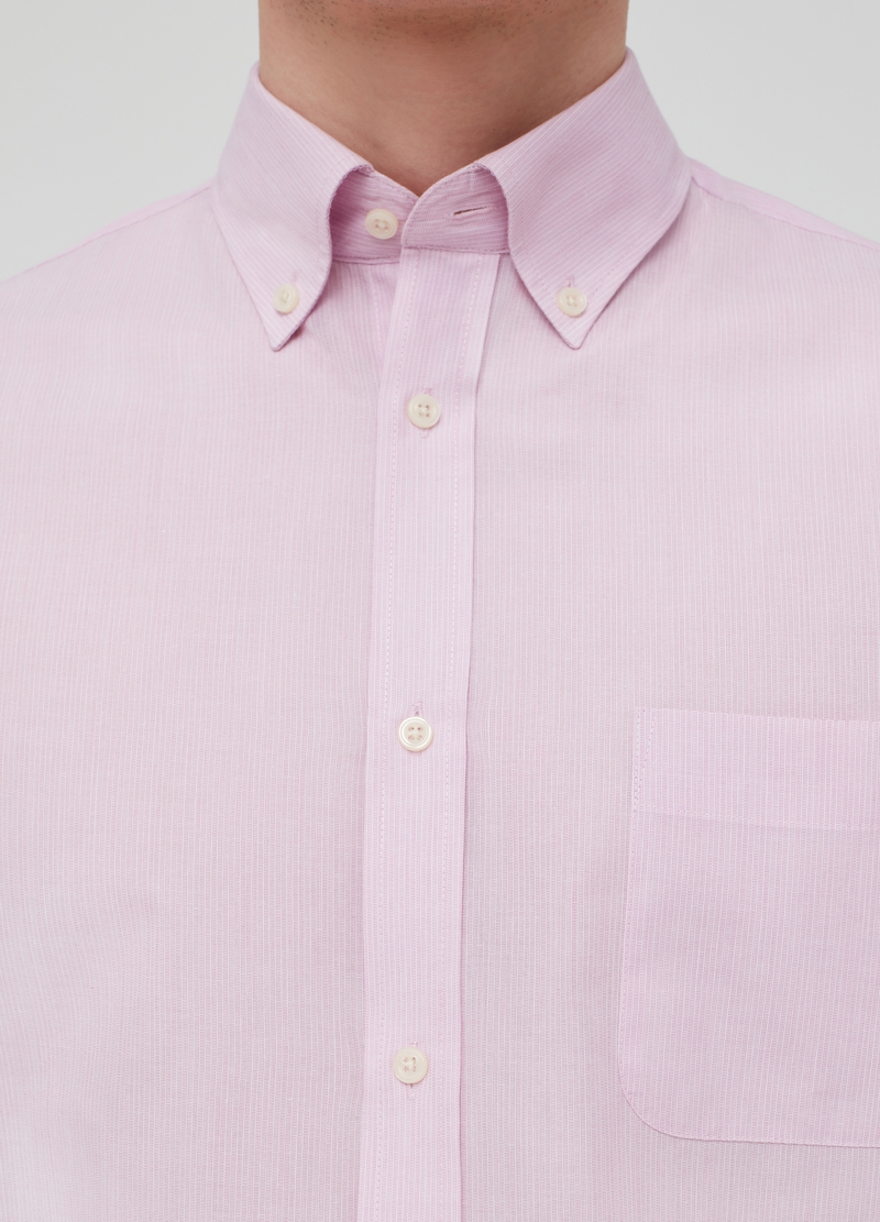 Regular-fit shirt with striped pattern image number null