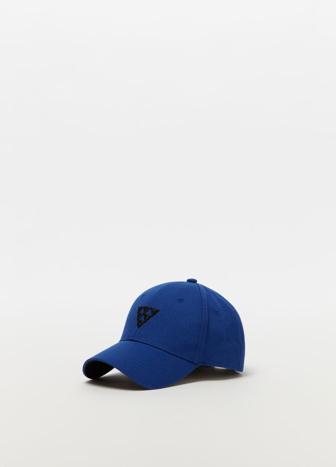 Baseball cap in drill con ricamo