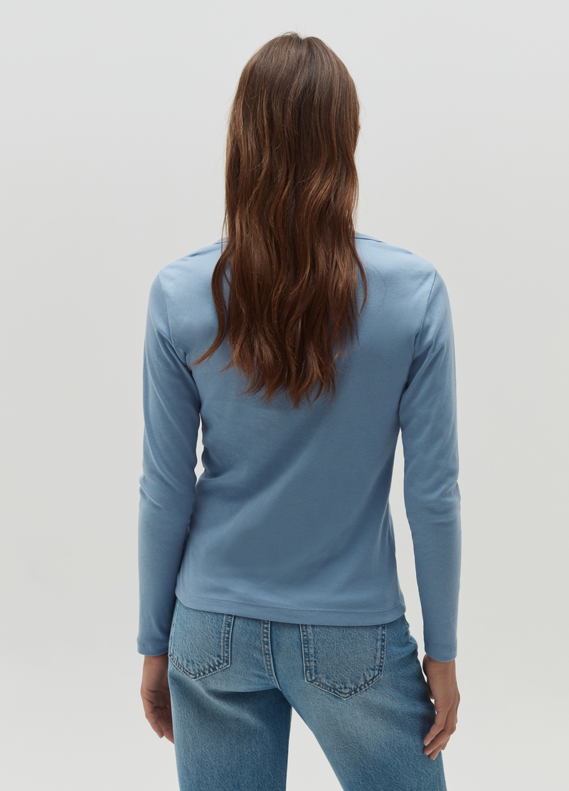 T-shirt with round neck and split image number null