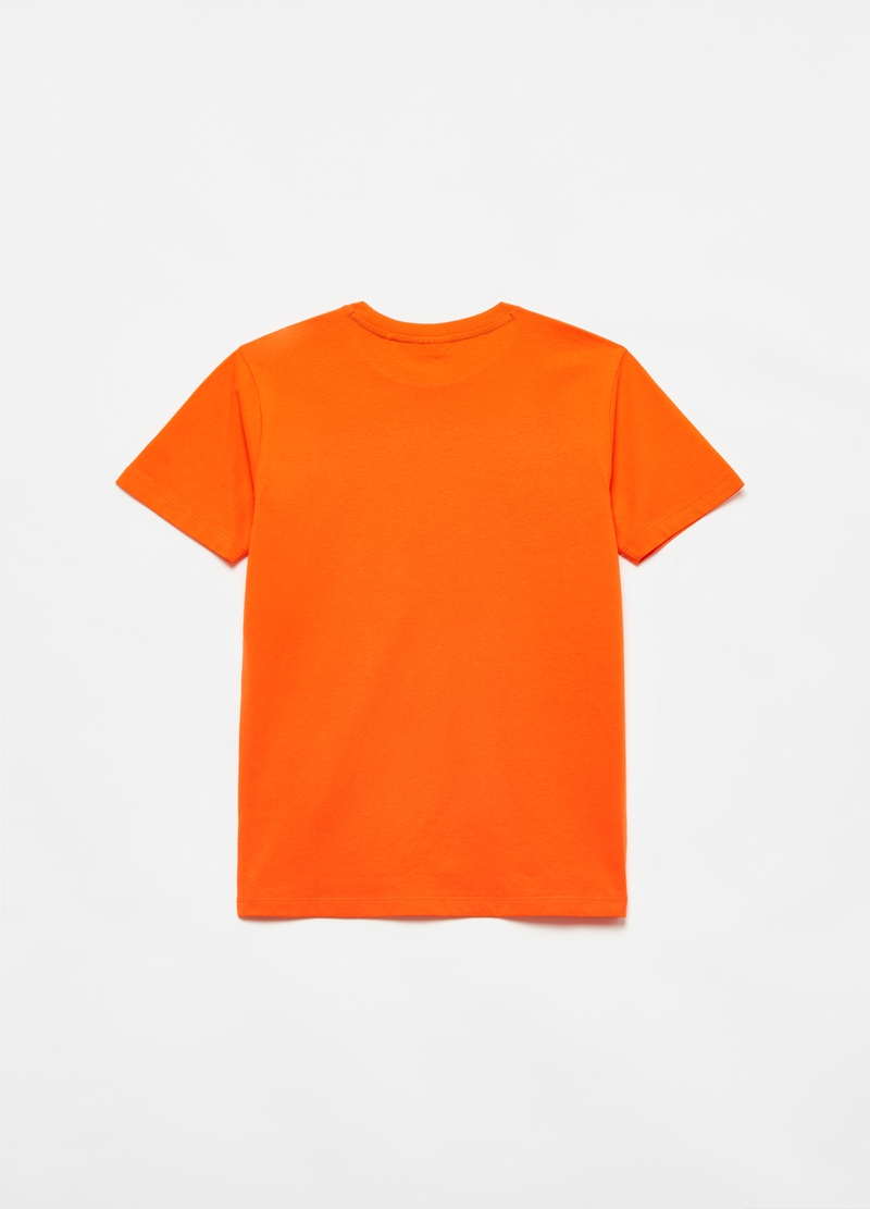 Cotton T-shirt with digital lettering image number null