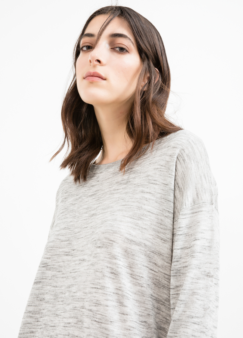 Viscose blend pullover with splits image number null