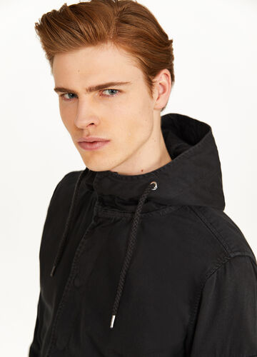 100% cotton parka with hood