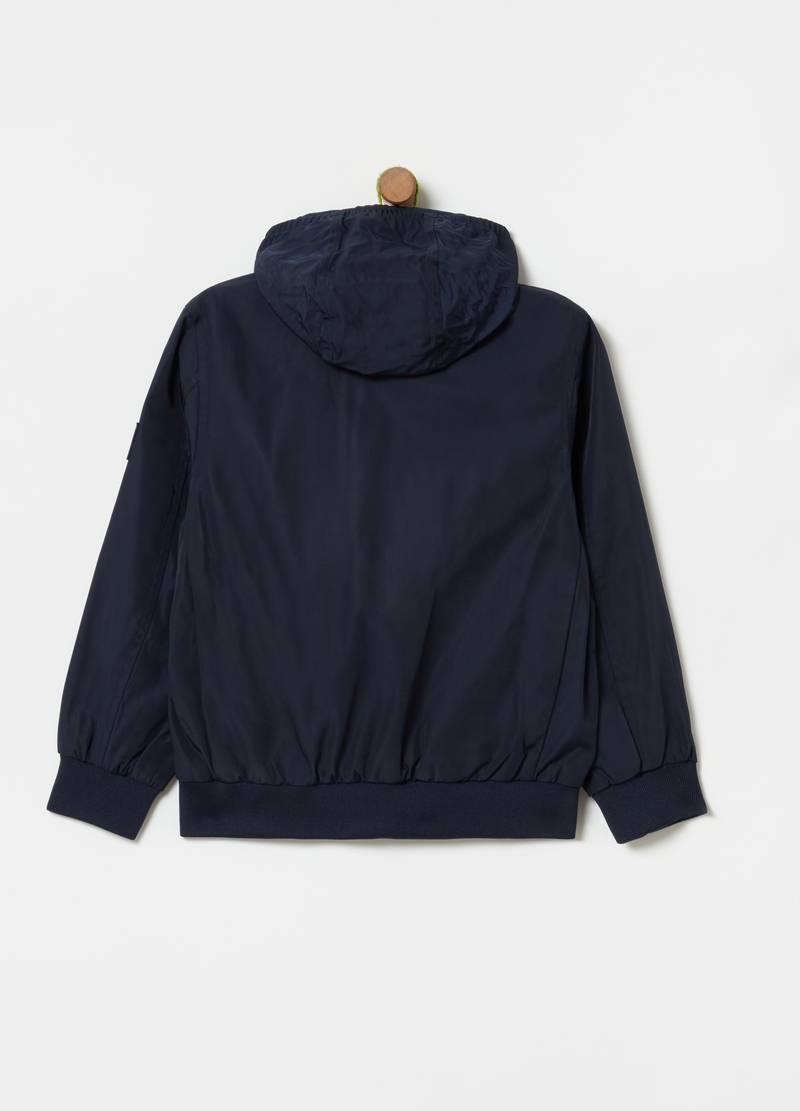 Bomber jacket with hood and high neck image number null