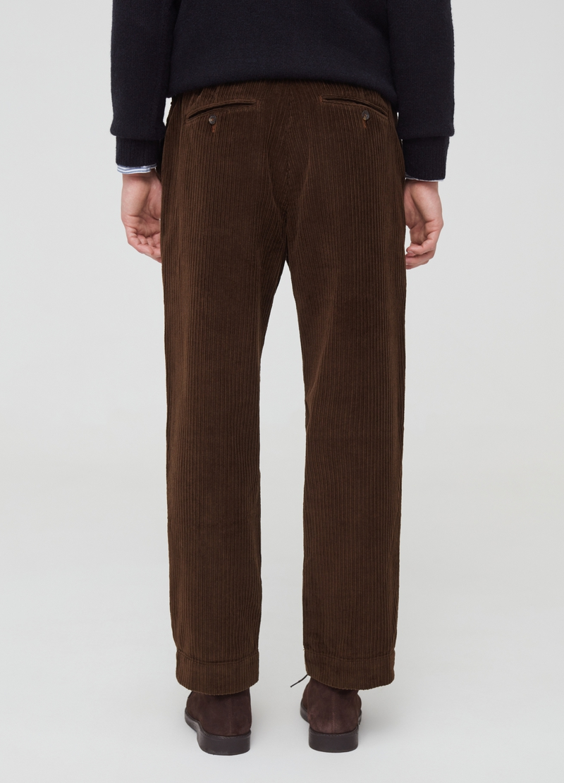 PIOMBO chino trousers in ribbed velvet image number null