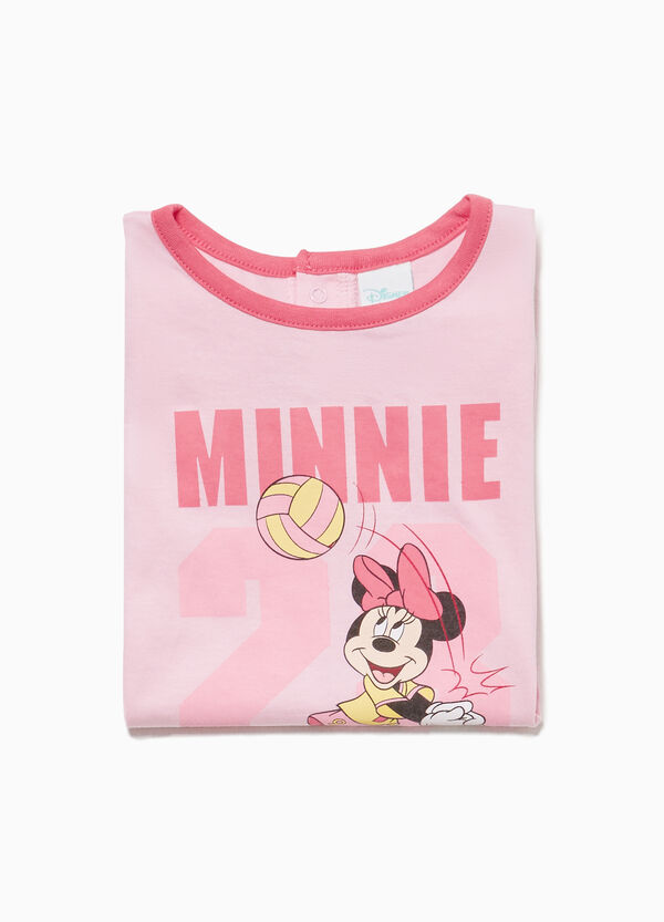 Sleepsuit with maxi Minnie Mouse print