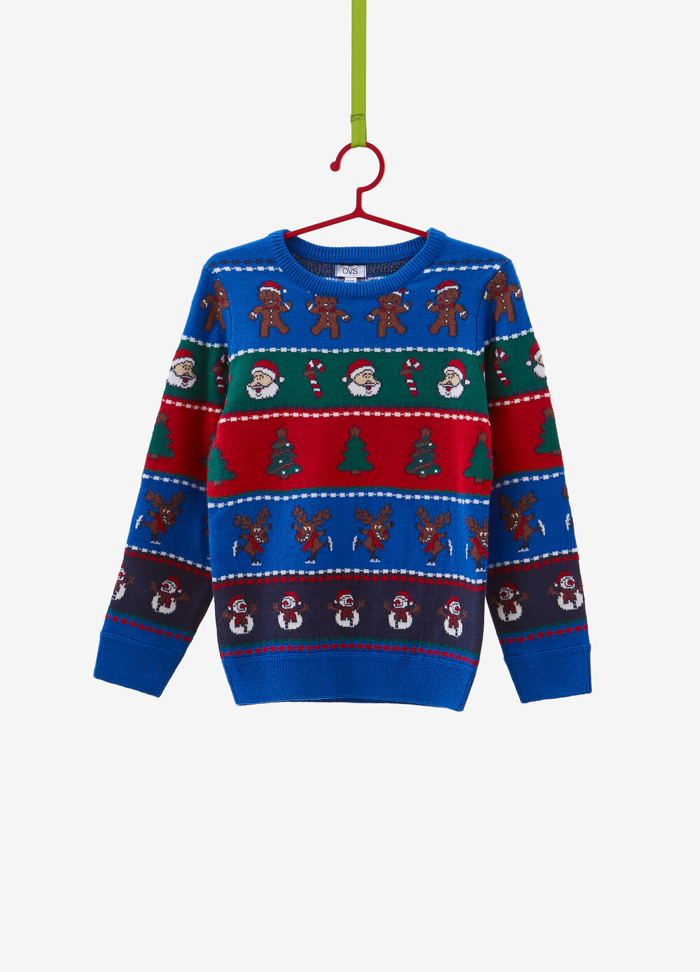 Christmas sweater with Christmas pattern