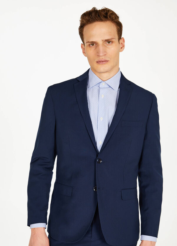 Regular-fit elegant stretch jacket