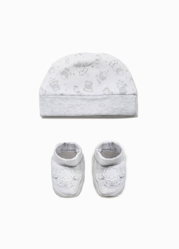 Animal hat and shoes set