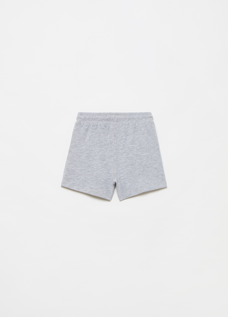 Mélange jersey shorts with drawstring image number null