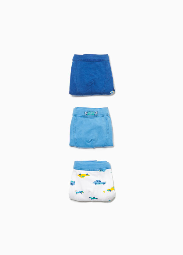 Three-pack stretch boxer shorts with cars