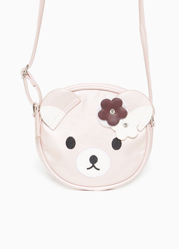 Borsa a tracolla con patch gattino
