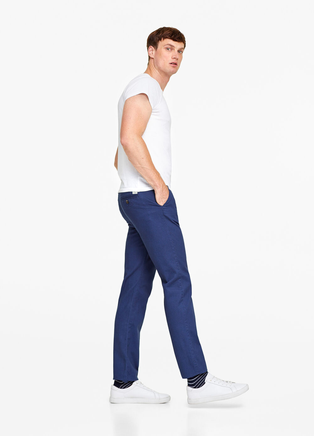 Pantaloni chino regular fit in twill