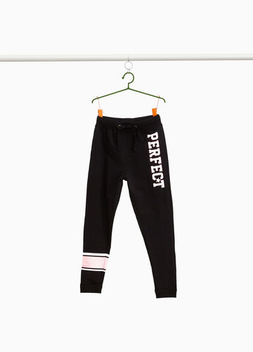 Joggers with lettering and stripes