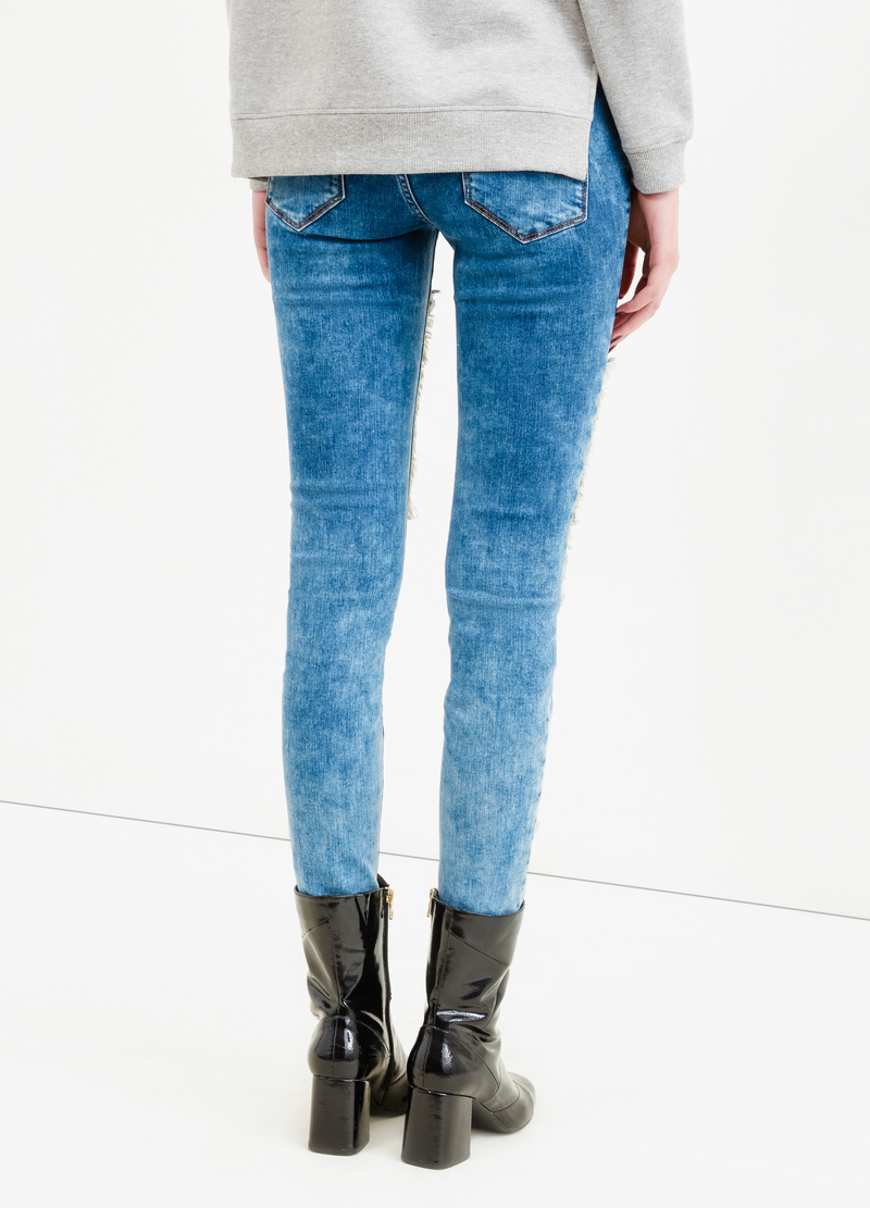 Jeans stretch con toppe image number null