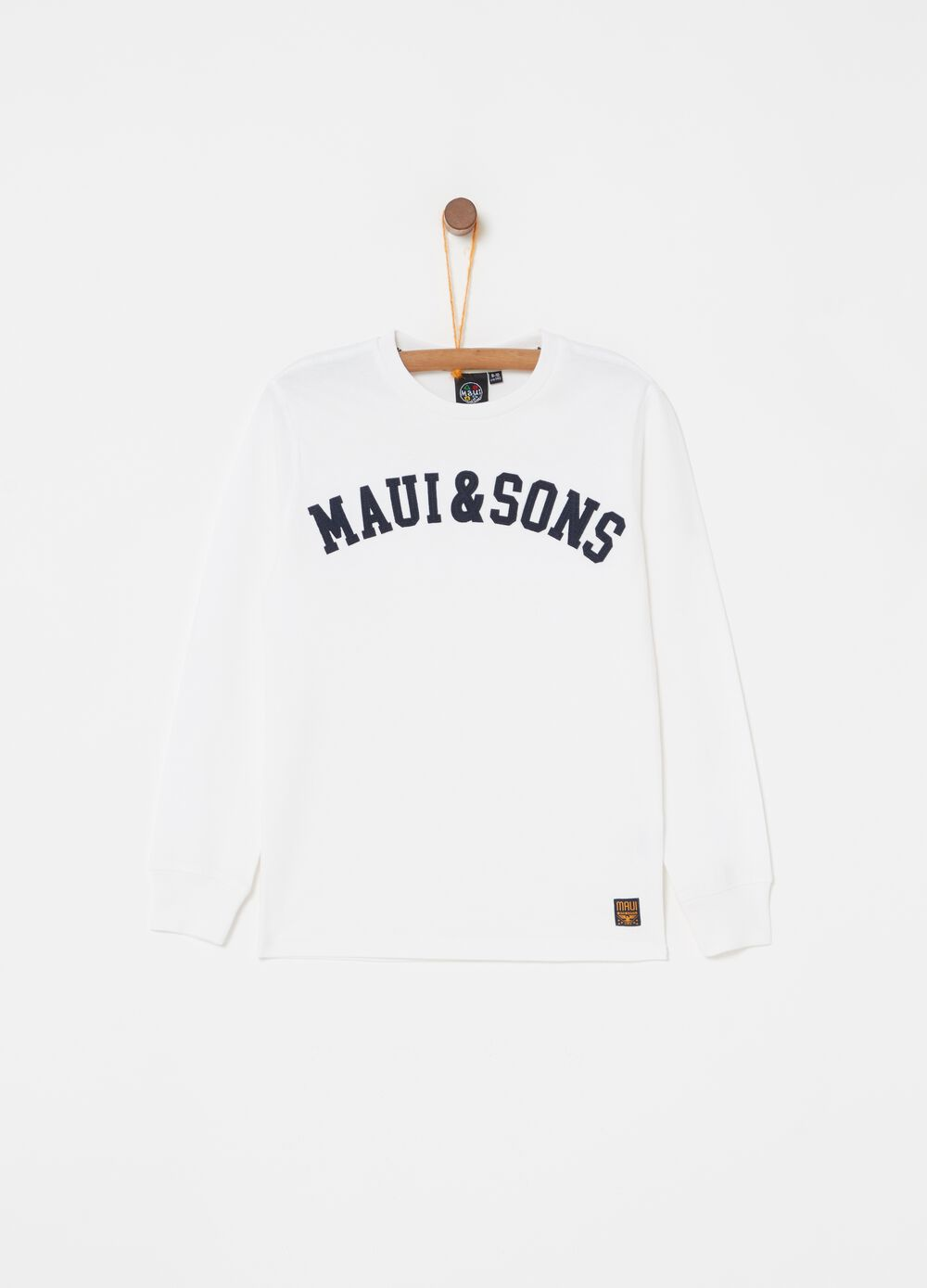 100% cotton T-shirt with Maui and Sons embroidery