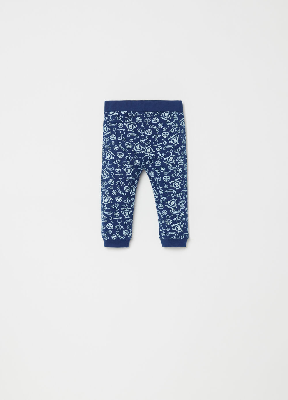 BCI cotton blend trousers with pattern