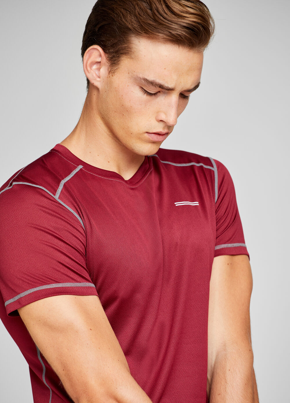 Sports T-shirt with dotted weave