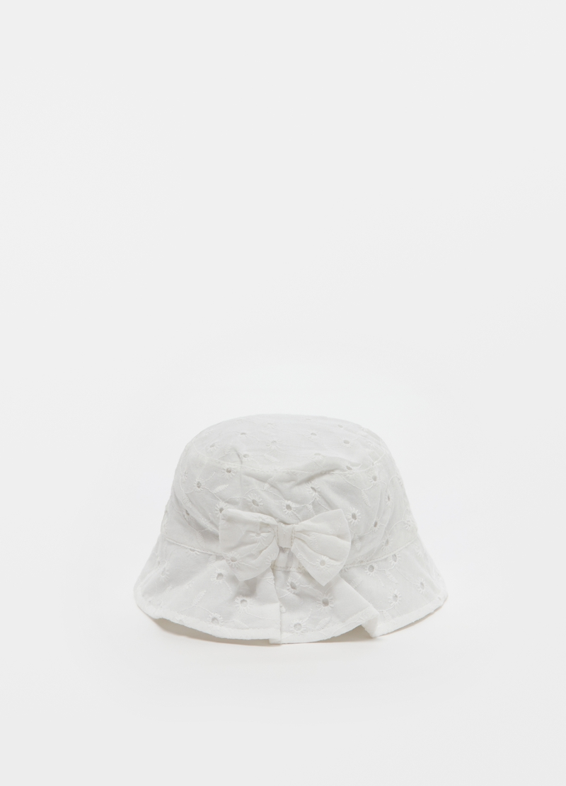 Fishing hat in broderie anglaise image number null