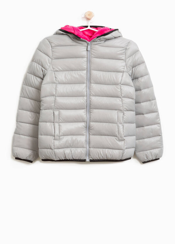 Down jacket with fur hood | OVS