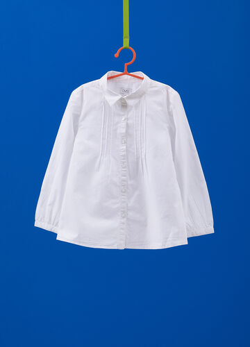 100% cotton shirt with pleating