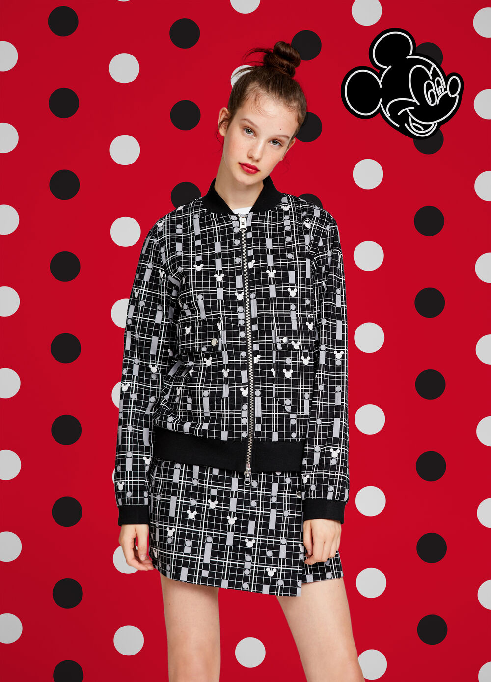 Mickey Mouse patterned jacket