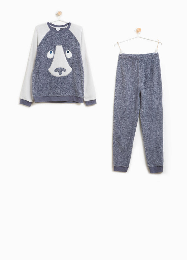 Pyjamas with embroidery and animal patch | OVS