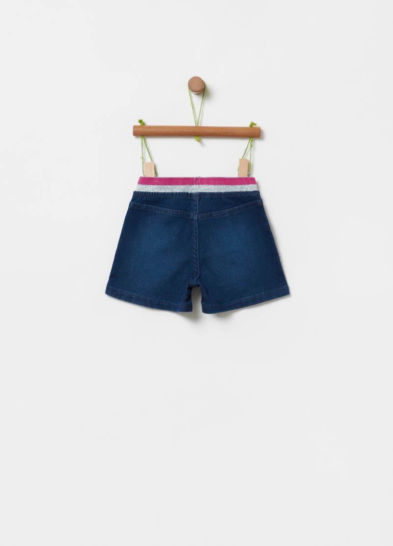 Shorts in French Terry con glitter image number null