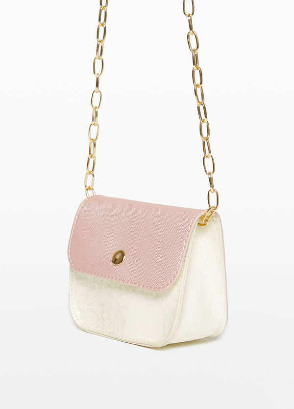 Shoulder bag with Saffiano flap