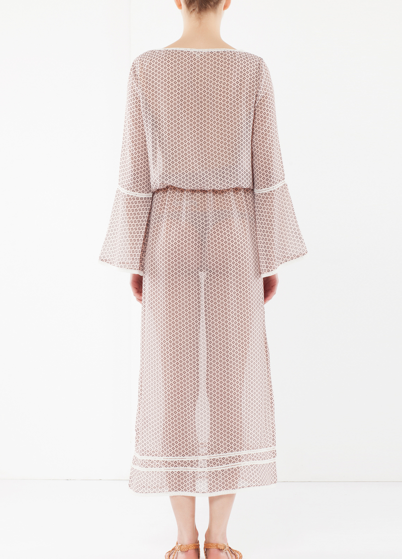 Long dress with lacing at front image number null