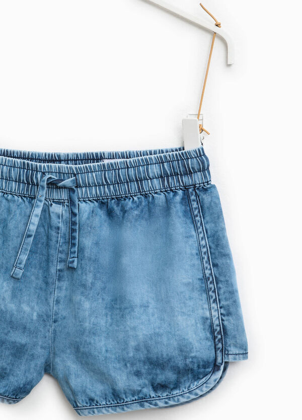 Denim shorts with drawstring | OVS