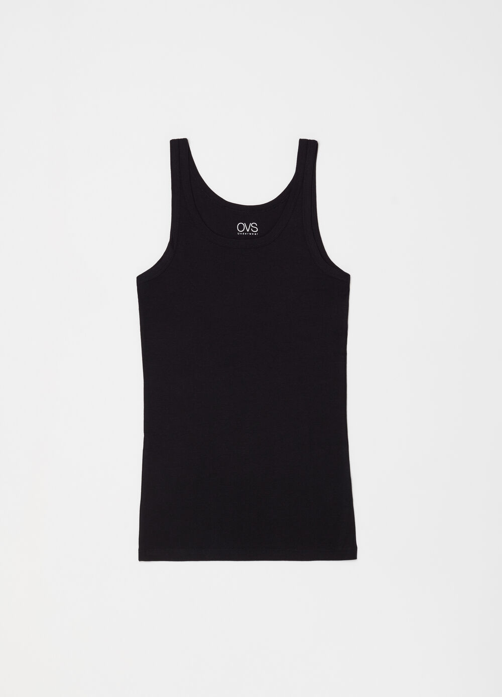 Two-pack ribbed racerback tops in 100% cotton