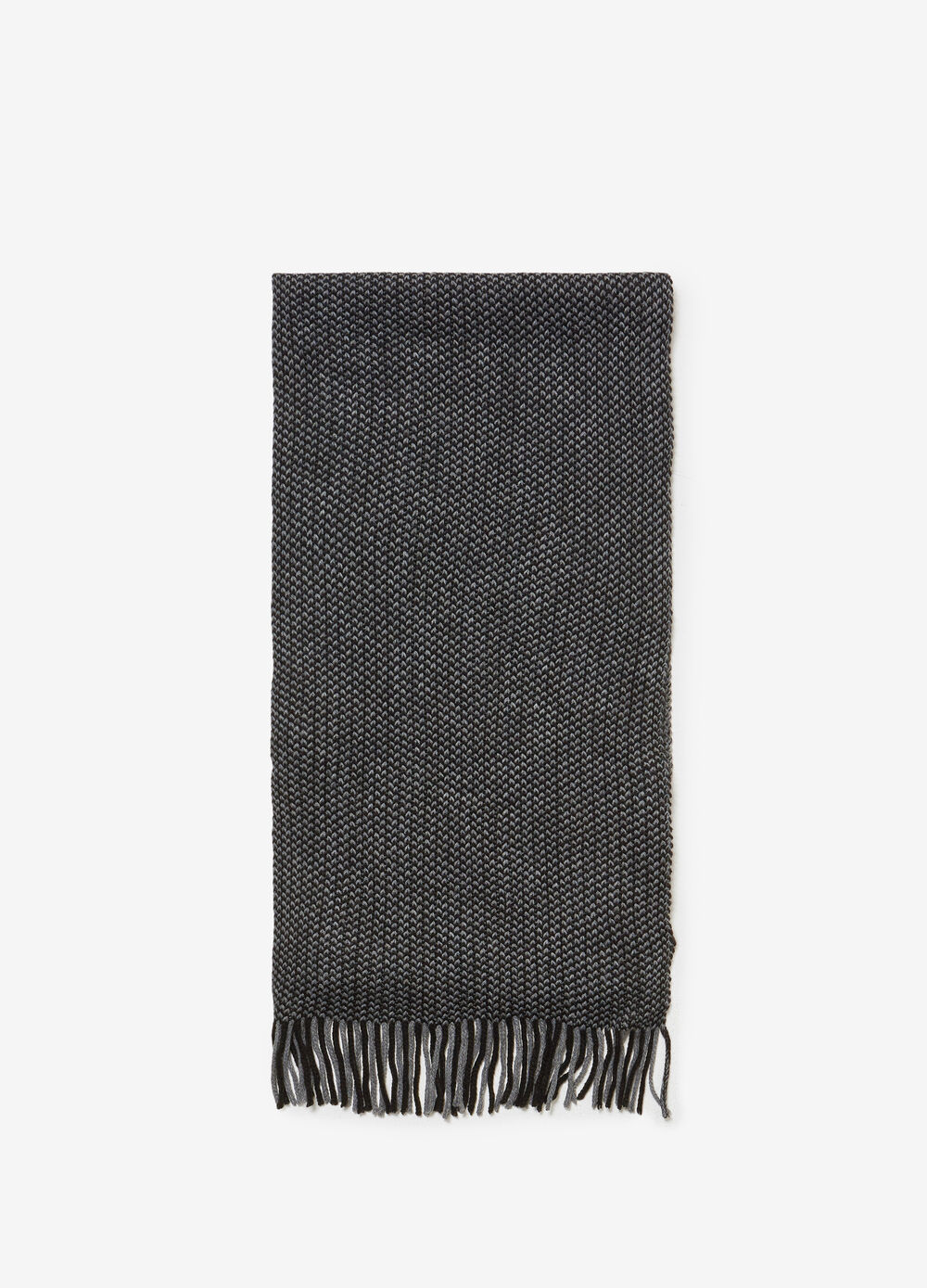 Jacquard scarf with braided weave