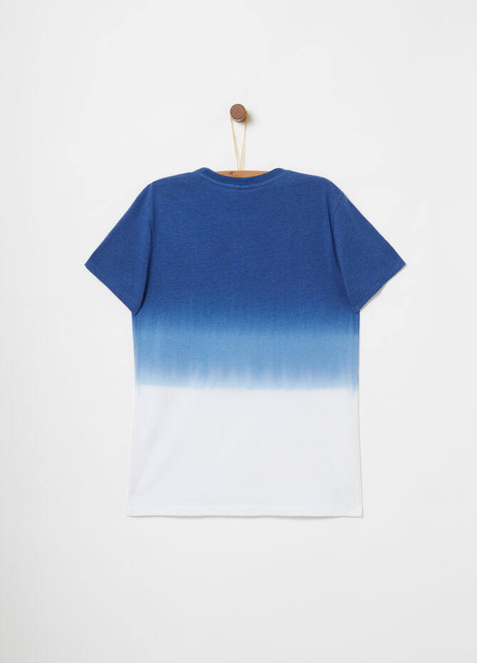 Faded-effect T-shirt with print